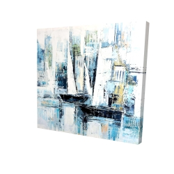 Canvas 24 x 24 - 3D - Industrial style boats