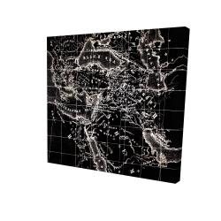 Canvas 24 x 24 - 3D - Old maritime maps
