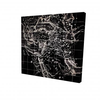 Carte du monde noire