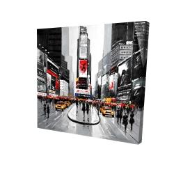 Canvas 24 x 24 - 3D - New york city busy street