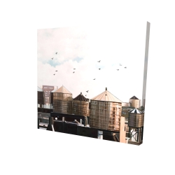 Canvas 24 x 24 - 3D - Water towers