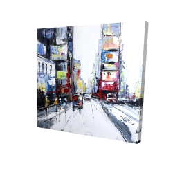 Canvas 36 x 36 - 3D - Time square