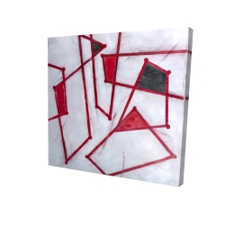 Canvas 24 x 24 - 3D - Red outlines shapes