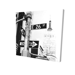 Canvas 24 x 24 - 3D - New york city street signs