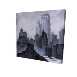Canvas 24 x 24 - 3D - Dark city
