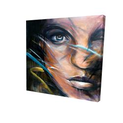 Canvas 24 x 24 - 3D - Colorful woman face