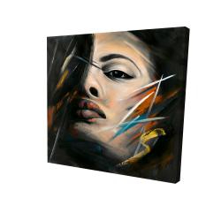 Toile 24 x 24 - 3D - Portrait abstrait de femme