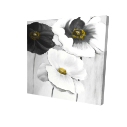 Canvas 24 x 24 - 3D - Assorted white flowers