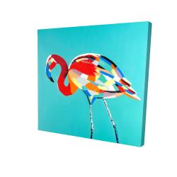 Canvas 24 x 24 - 3D - Abstract flamingo
