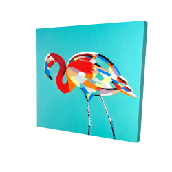 Canvas 24 x 24 - 3D - Abstract flamingo