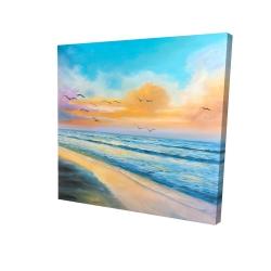 Canvas 24 x 24 - 3D - Breathtaking tropical sunset