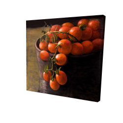 Canvas 24 x 24 - 3D - Bucket of cherry tomatoes
