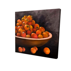 Canvas 24 x 24 - 3D - Bowl of cherry tomatoes