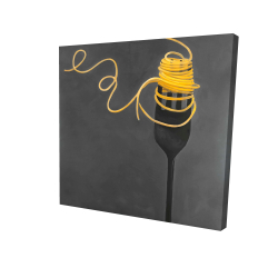 Canvas 24 x 24 - 3D - Spaghetti pasta around a fork