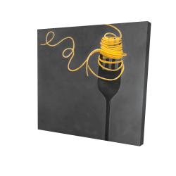 Canvas 24 x 24 - 3D - Spaghetti pasta around a fork