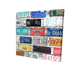 Canvas 24 x 24 - 3D - Vintage plates registration