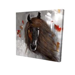Canvas 24 x 24 - 3D - Proud brown horse