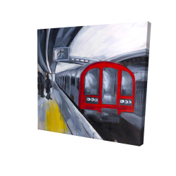 Canvas 24 x 24 - 3D - People waiting metro