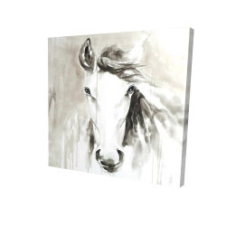 Canvas 24 x 24 - 3D - Beautiful abstract horse