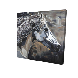 Canvas 24 x 24 - 3D - Side of a wild horse