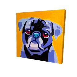 Canvas 24 x 24 - 3D - Flash the pug