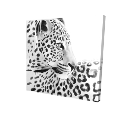 Canvas 24 x 24 - 3D - Beautiful leopard