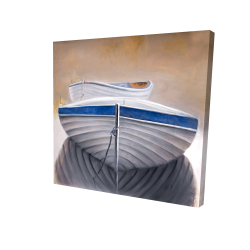 Canvas 24 x 24 - 3D - Two canoe boats