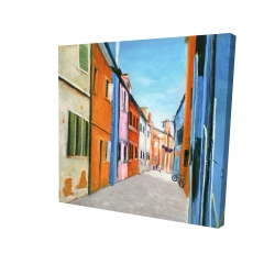 Canvas 24 x 24 - 3D - Colorful houses in italy