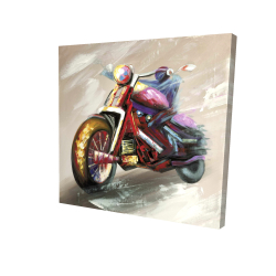 Canvas 24 x 24 - 3D - Abstract motorcycle