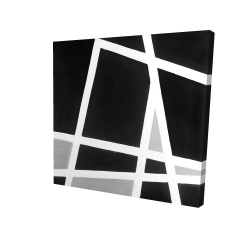 Canvas 48 x 48 - 3D - Black and white abstract lines