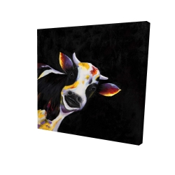 Canvas 24 x 24 - 3D - One funny cow