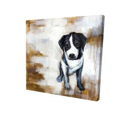 Canvas 24 x 24 - 3D - Sitting dog