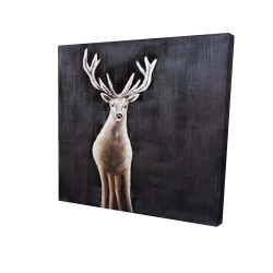 Canvas 24 x 24 - 3D - Lonely deer
