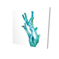 Toile 24 x 24 - 3D - Petit corail de mer à l'aquarelle