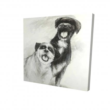 Happy dogs sketch