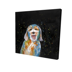 Canvas 24 x 24 - 3D - Abstract labradoodle