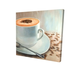 Canvas 24 x 24 - 3D - Cappuccino time