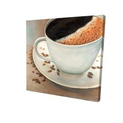 Canvas 24 x 24 - 3D - Black coffee