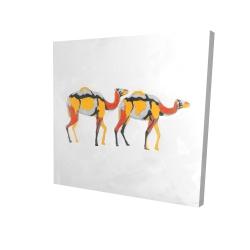Canvas 24 x 24 - 3D - Abstract dromedaries