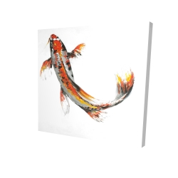 Canvas 24 x 24 - 3D - Butterfly koi fish