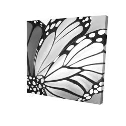 Canvas 24 x 24 - 3D - Monarch wings closeup