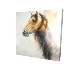 Canvas 24 x 24 - 3D - Wild horse
