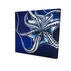 Canvas 24 x 24 - 3D - Dancing octopus
