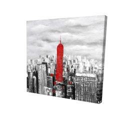 Canvas 24 x 24 - 3D - Empire state building of new york
