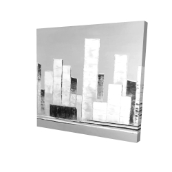 Canvas 36 x 36 - 3D - Abstract black and white buildings