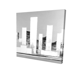 Canvas 24 x 24 - 3D - Minimalist abstract buildings