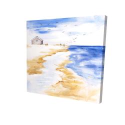Canvas 24 x 24 - 3D - House on the beach