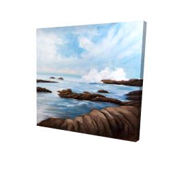 Canvas 24 x 24 - 3D - Seaside storm