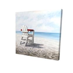 Canvas 24 x 24 - 3D - White beach chair