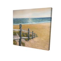 Canvas 24 x 24 - 3D - Quiet seaside